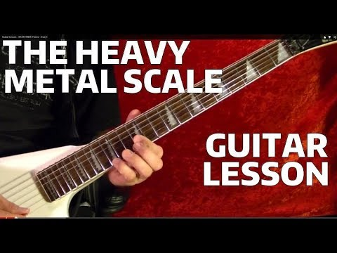 THE HEAVY METAL SCALE Guitar Lesson  ( WITH TABS )