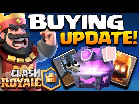 Clash Royale - GEMMING NEW UPDATE CARDS! ANY LEGENDARIES?! Unlocking ...