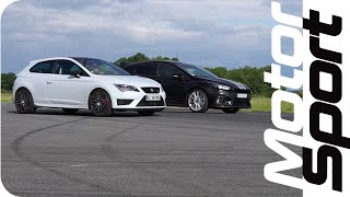 Drag race : Ford Focus RS VS Seat Leon Cupra 290 by Motorsport Magazine
