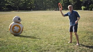Episode II -  Playing frisbee: Our new BB-8 just got the 'Catch-and-Throw' firmware update. We were not prepared for that outcome at all!Become a Faceook Fan:https://www.facebook.com/PhysicallyShakenDisclaimer: No frisbees were harmed during the making of this video.