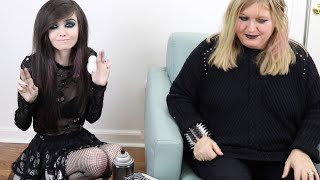 I've made my mom into a true emo! Subscribe to see more videos!