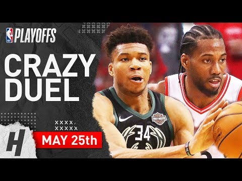Kawhi Leonard Vs Giannis Antetokounmpo Game 6 Duel Highlights 2019 NBA Playoffs ECF - EPIC!
