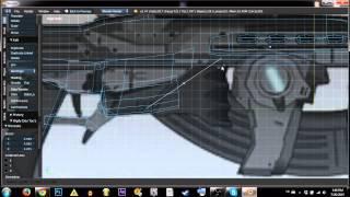LOW POLY modelling in BLENDER: SCI-FI GUN