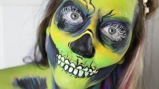 Grinch Skele-Zombie Body Paint Timelapse