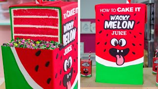 Video GIANT Juice Box Cake with JUICE INSIDE!! | How To Cake It MP3, 3GP, MP4, WEBM, AVI, FLV September 2018