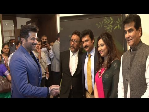 Anil Kapoor, Jackie, Jeetendra At Jehangir Art Gallery For Archana Srivastava Painting