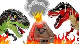 Video 5 Tyrannosaurus Rex With Angry Volcano Eruption! Dinosaur Fun Video Dino Toys For Kids MP3, 3GP, MP4, WEBM, AVI, FLV Maret 2019