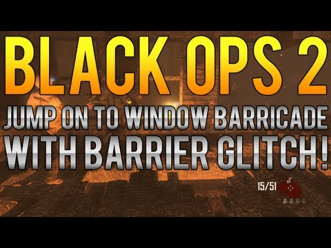 Black Ops 2 Zombie Glitches: Tranzit Zombies - Jump On To Window Barricade With Barrier Glitch!