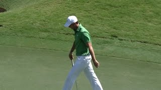 Jordan Spieth sinks a 29-footer at the TOUR Championship by PGA TOUR