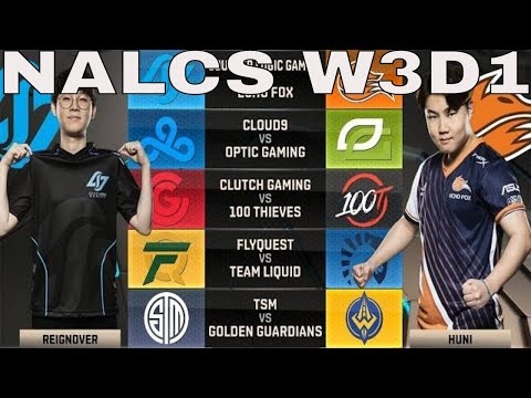 NA LCS Highlights ALL GAMES Week 3 Day 1 / W3D1 Spring 2018