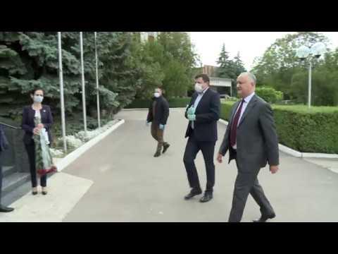 Igor Dodon a vizitat orașul Glodeni