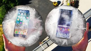 Video iPhone 8 vs Note 8 Freeze and Drop Test! Which Will Survive?? MP3, 3GP, MP4, WEBM, AVI, FLV Juni 2019