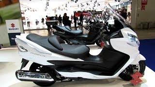 3. 2014 Suzuki Burgman 400 ABS Walkaround - 2013 EICMA Milan Motorcycle Exibition