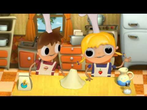 Pan con Chocolate - recetas para niños con Telmo y tula  dibujos animados