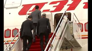 Xianyang China  city images : PM Modi's arrival at Xi'an Xianyang International Airport(CHINA)