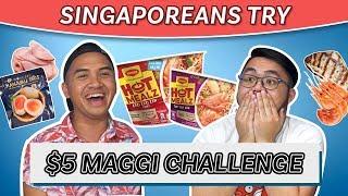 Video Singaporeans Try: $5 Maggi Instant Noodle Challenge MP3, 3GP, MP4, WEBM, AVI, FLV Desember 2018