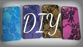 DIY Lace Print iPhone Case (Easy) - YouTube