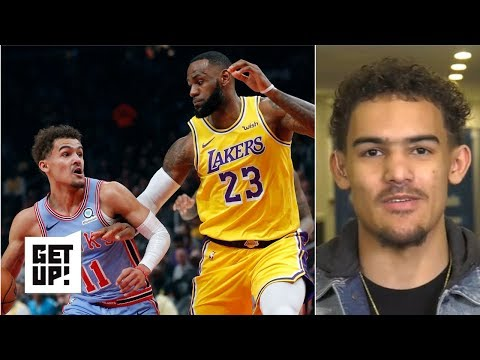 Video: Trae Young on going head-to-head with LeBron James and competing with Luka Doncic | Get Up!