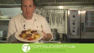 Rehmedaillons im Speckmantel | glasierten Teltower Rübchen | Rosmarinkartoffeln
