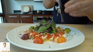 FRESH LIVE Steamed Maine Lobster Salad by Diaries of a Master Sushi Chef