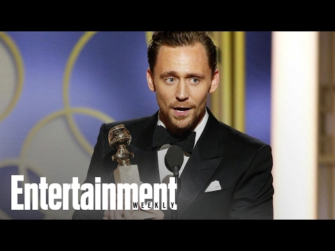 Why Tom Hiddleston Was Criticized For His Golden Globes Speech | News Flash | Entertainment Weekly (видео)