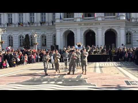 Concert de fanfara al Regimentului 2 Cavalerie SUA...