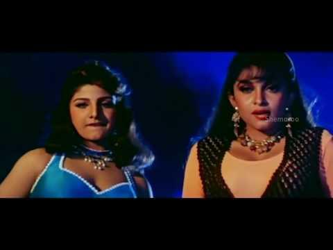 Alluda Majaka Movie Scenes - Ramya Krishna & Ramba tries to entice Chiranjeevi - Ramya Krishna