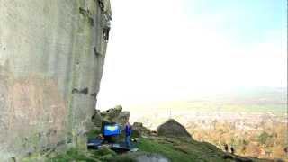 Ilkley United Kingdom  City pictures : Michele Caminati climbs 'The New Statesman' E8 7a, Ilkley, UK.