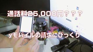 【格安SIM】yモバイルから25000円の請求?!【yモバイル】