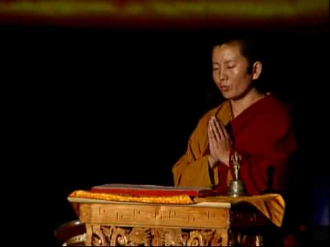 Ani Choying teaching the OM MANI PADME HUM mantra