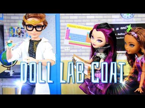 How to Make a Doll Lab Coat, Trench Coat, Designer Coat, Rain Coat