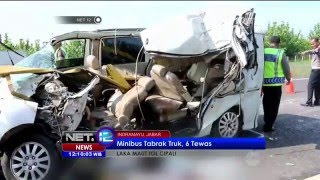 Video Minibus Tabrak Truk 6 tewas di Tol Cipali - NET12 MP3, 3GP, MP4, WEBM, AVI, FLV Januari 2019