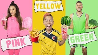 Video EATING Only ONE COLOR of FOOD For 24 Hours CHALLENGE! | The Royalty Family MP3, 3GP, MP4, WEBM, AVI, FLV September 2019