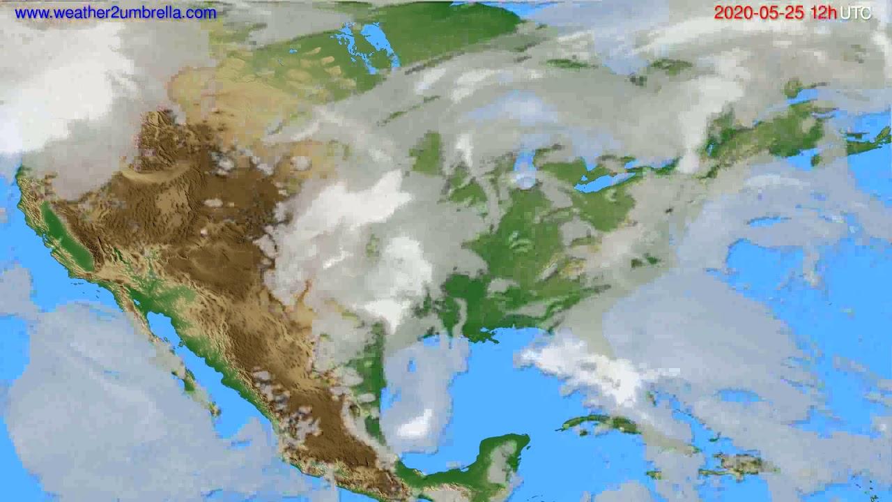 Cloud forecast USA & Canada // modelrun: 00h UTC 2020-05-25