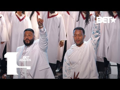 YG, DJ Khaled & Marsha Ambrosius & John Legend Perform Tribute to Nipsey Hussle | BET Awards 2019