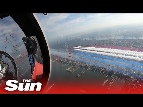 Fly With The Red Arrows Over Manhattan