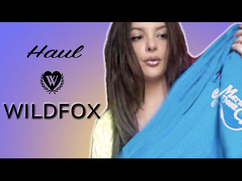 WILDFOX MINI HAUL....SOFT COTTON COLORFUL JUMPERS, TRACKSUIT SETS.