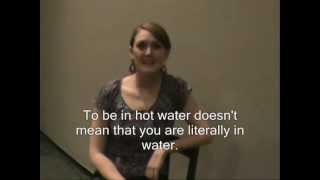 To be in hot water, ESL idioms 3