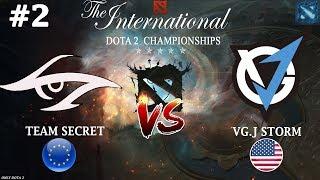 Жесточайший ЗАМЕС! | Secret vs VGJ.Storm #2 (BO3) | The International 2018