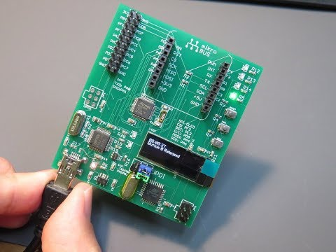 Atmega4809 developing board with embedded programmer