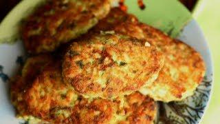 Petites galettes de poulet croustillantes