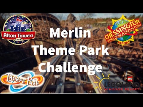 Theme Park Challenge: Visiting 4 Merlin Parks In One Day! (видео)