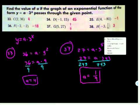 Real Exponents and Exponential Functions HW:Alg2:600