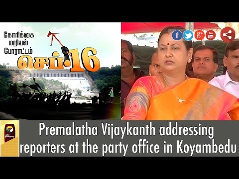 Premalatha-addressing-reporters-at-the-party-office-in-Koyambedu