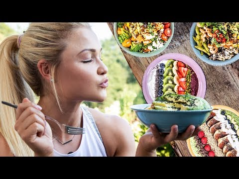 FITNESS FOOD super BOWLS zum abnehmen! ♥ Einfache Acai, Smoothie, Buddha und Poke Bowl Rezepte (видео)