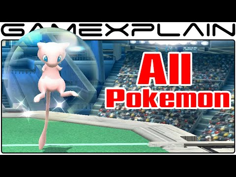 All Pokeball Pokemon in Smash Bros Wii U (Including Mew!)
