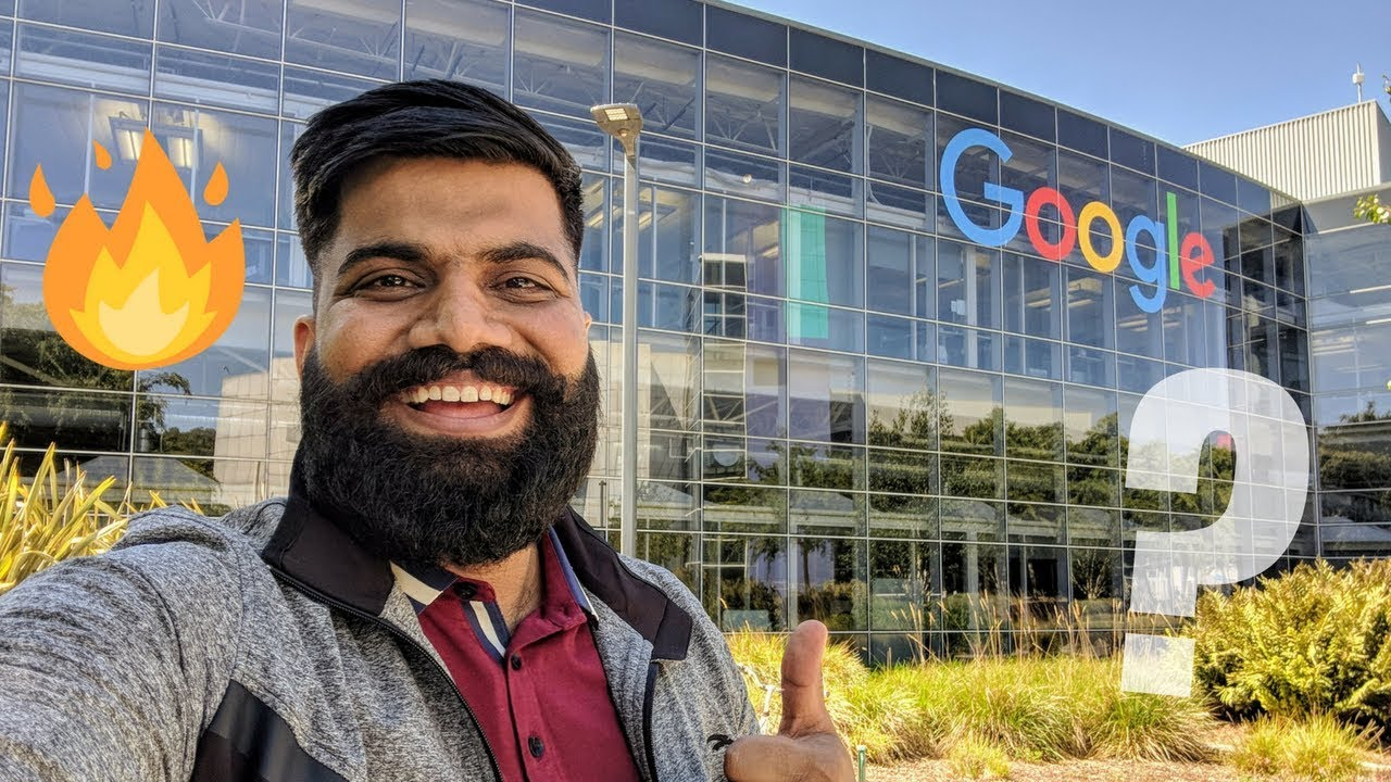 Gaurav Chaudary (AKA Technical Guruji) from India tours Google HQ campus