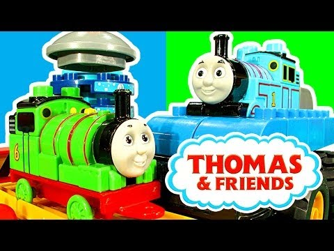 Thomas - Unboxing toy review and playtime of the Thomas & Friends Mega Bloks construction bricks playset Percy At The Washdown 10633 (80 pieces) which features a buildable Percy the small engine. For...