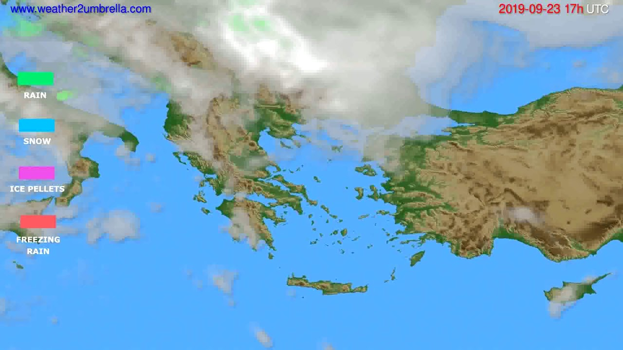 Precipitation forecast Greece // modelrun: 00h UTC 2019-09-22