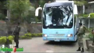 Pakistan Team w/ Security Protocol leaving from Kandy to Colombo